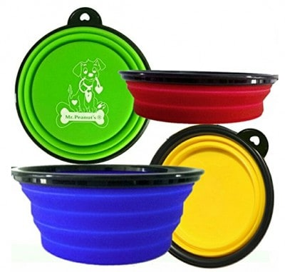 Collapsable dog bowls